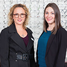 Centre Visuel D.R. team of optometrists, opticians and consultants